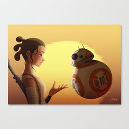 Rey and BB-8 Canvas Print