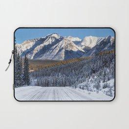 Winter Wonderland - Road in the Canadian Rockies Laptop Sleeve