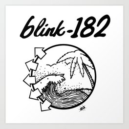 blink-182 beach BLACK Art Print