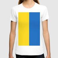 ukraine T-shirts featuring Flag Of Ukraine by Neville Hawkins