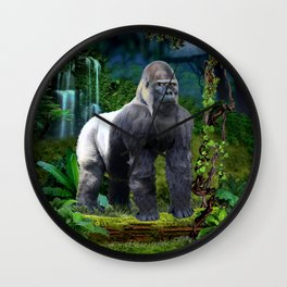 Silverback Gorilla Guardian of the Rainforest Wall Clock