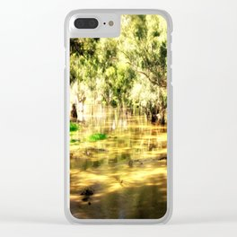 Flooded Plains Clear iPhone Case