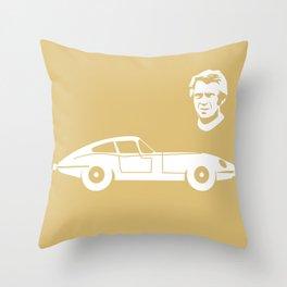 Jaguar E-Type Throw Pillow