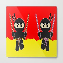 Angry ninjas Metal Print