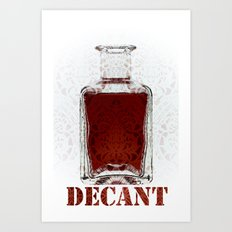 Decant Art Print