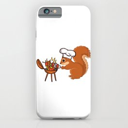 Squirrel Chef Grill Meat iPhone Case