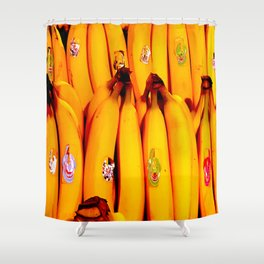 The Art of the Bananas Shower Curtain