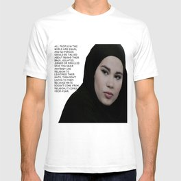 SKAM - Sana Bakkoush - All people in this world are equal T-shirt
