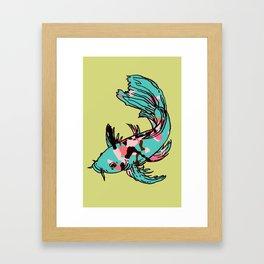 AriZona Butterfly Koi Framed Art Print