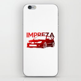 Subaru Impreza 2006 - classic red - iPhone Skin
