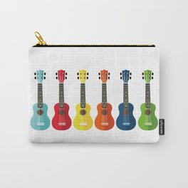 Colorful Ukuleles Carry-All Pouch