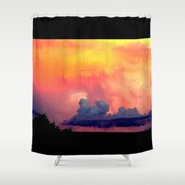 Lightning over Madison Shower Curtain