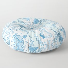 Marie-Antoinette Monogram (Aqua) Floor Pillow