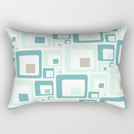 Retro Squares Mid Century Modern Background Rectangular Pillow