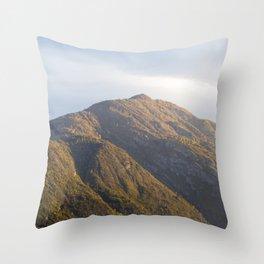 Lake Como Hills at Sunset Throw Pillow