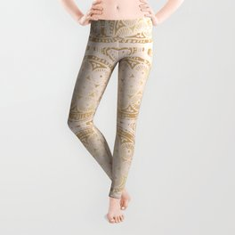 power of one: pink gold Leggings