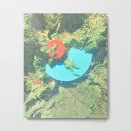 Topo / Graph Metal Print