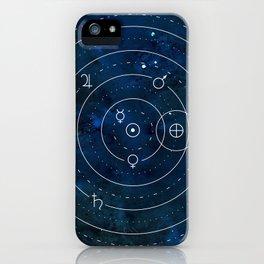 Planets Symbols on Nightsky iPhone Case