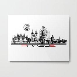 Prague black and white Metal Print