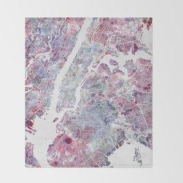 New York map Decke