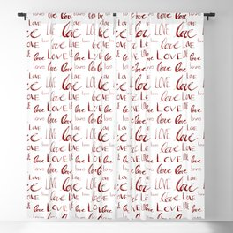 Words of Love in Red Blackout Curtain