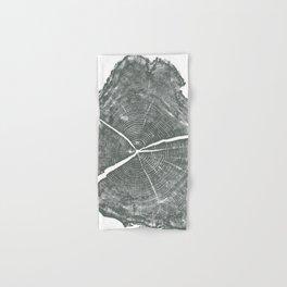Locust Tree ring image, woodcut print Hand & Bath Towel