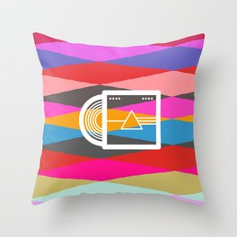 Dark side of the moon collage Throw Pillow