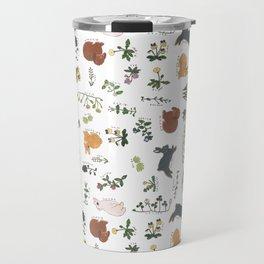 Bunnies and spring flowers Travel Mug