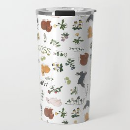 Bunnies and spring flowers Travel Mug