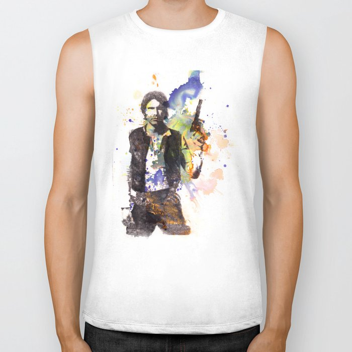 Han Solo From Star Wars  Biker Tank