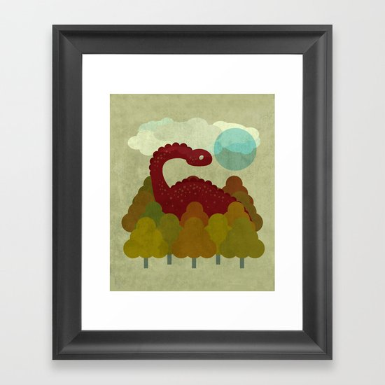 RED DINO Framed Art Print