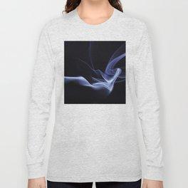 Lyrical Smoke Pattern Long Sleeve T-shirt