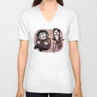 tim burton V-neck T-shirts featuring Burton Grumps by SIINS