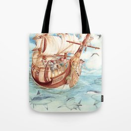 Observing Sharks Tote Bag