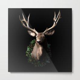 Christmas Stag Metal Print