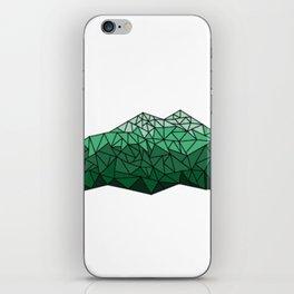 Geometric Mountains (Green) iPhone Skin