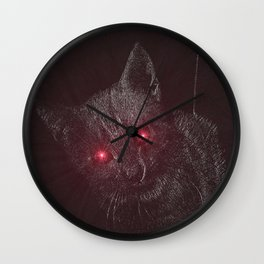Bad Kitty! Wall Clock