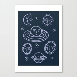 Cranky Planets Astro Print Canvas Print
