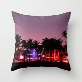 South Beach Miami, FIne Art Landscape Photography Throw Pillow