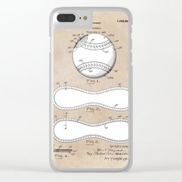 patent Maynard Baseball 1927 Clear iPhone Case