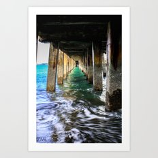 Below The Docks Art Print