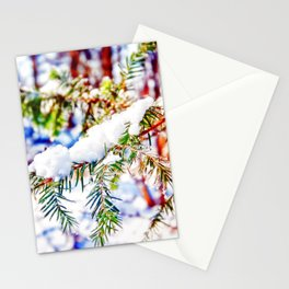 Colours in the Snow Stationery Cards
