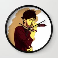 zayn Wall Clocks featuring Zayn by Intrepid Lens