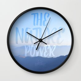 The nature power hill Wall Clock