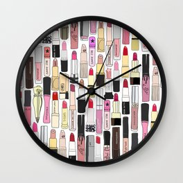 Lipstick Decoys Wall Clock
