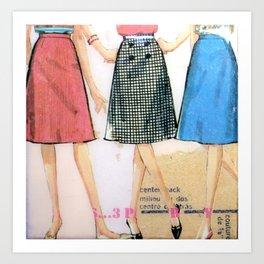 Three Skirts  Art Print