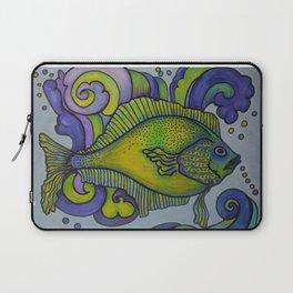 Green Fish Blue Fish Laptop Sleeve