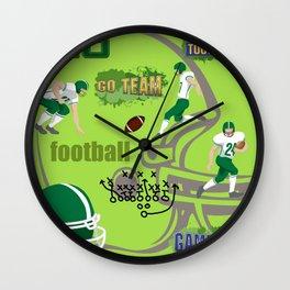 I Love Football! Sports, Football, Game Day Wall Clock