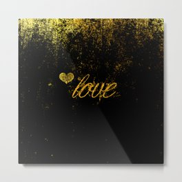 Glittery Love Metal Print