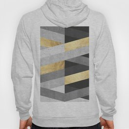 Gold and gray lines IV Hoody